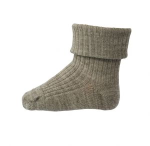 MP Wool Rib Socks Light Brown