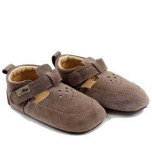 Tikki Kids Pouf Shoes Almond Suede