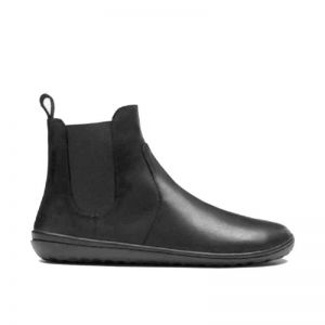 Vivobarefoot Ladies Fulham Boots in Black Leather