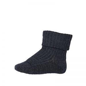 MP Wool Rib Socks Dark Grey