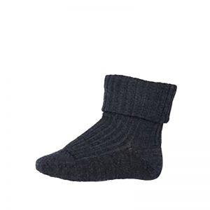MP Denmark Wool Rib Socks Dark Grey