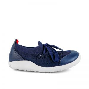 Bobux Knit Navy Red