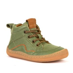 Froddo Barefoot Lace Up Boot Olive