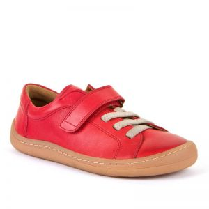 Froddo Barefoot Red Faux Lace Up Shoe