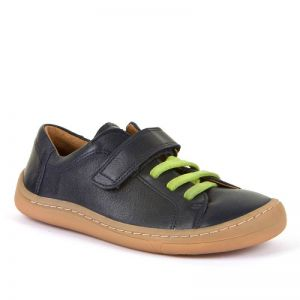 Froddo Barefoot Dark Blue Faux Lace Up Shoe