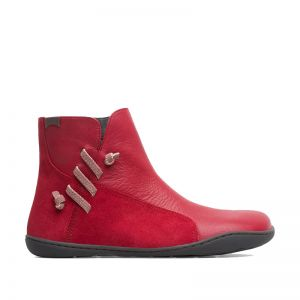 Camper Ladies Peu Ankle Boots Red