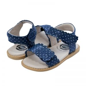 Livie and Luca Posey Polka Dot Navy