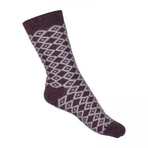 Melton Wool Socks Fig