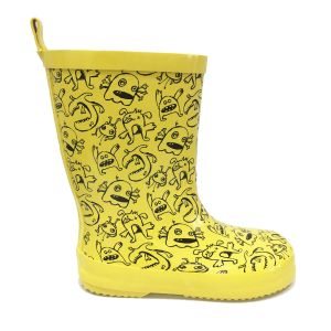 Beno Kids Monsters Wellingtons Yellow