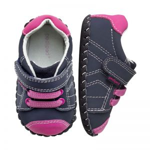 Pediped Originals Jake Navy Pink