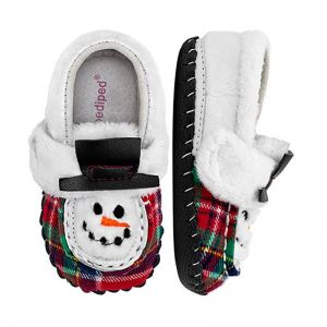 Pediped Originals Snowman White Plaid