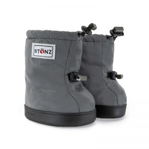 Stonz Reflective Silver Puffer Booties