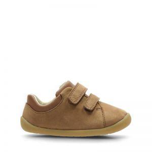 Clarks Roamer Craft Pre-walker Shoe Tan Leather