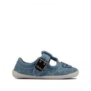 Clarks Roamer Sun Pre-walker Shoe Blue Canvas