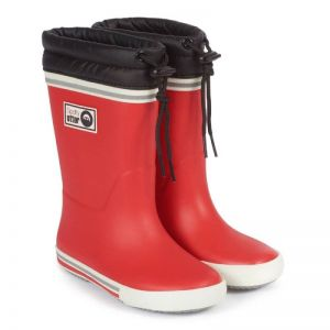 Spotty Otter Forest Leader Fleece Lined Wellies - Red