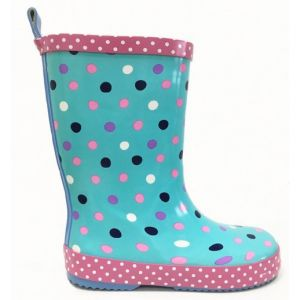 Beno Kids Spotty Wellingtons Aqua