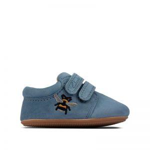 Clarks Star Hope Pre-walker Shoe Blue Suede