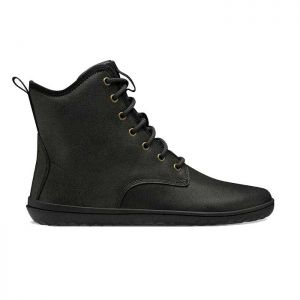 Vivobarefoot Men's Scott Boots in Black Leather