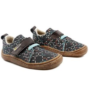 Tikki Kids Harlequin Textile Shoes Lines