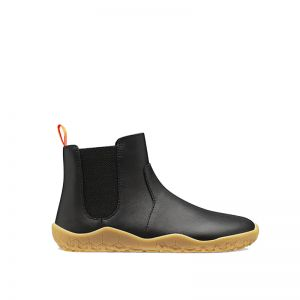 Vivobarefoot Kids Fulham Black Leather Winter