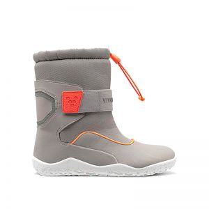 Vivobarefoot Kids Yeti Grey Neon Red