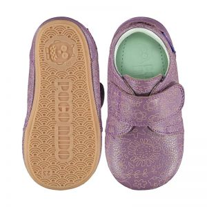 Poco Nido Velcro Mighty Shoes Wildflowers Etch