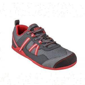 Xero Men's Prio Athletic Shoe Charcoal Red