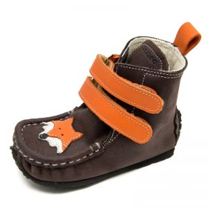 Zeazoo Kids Yeti Boots Brown Orange with Wool Lining