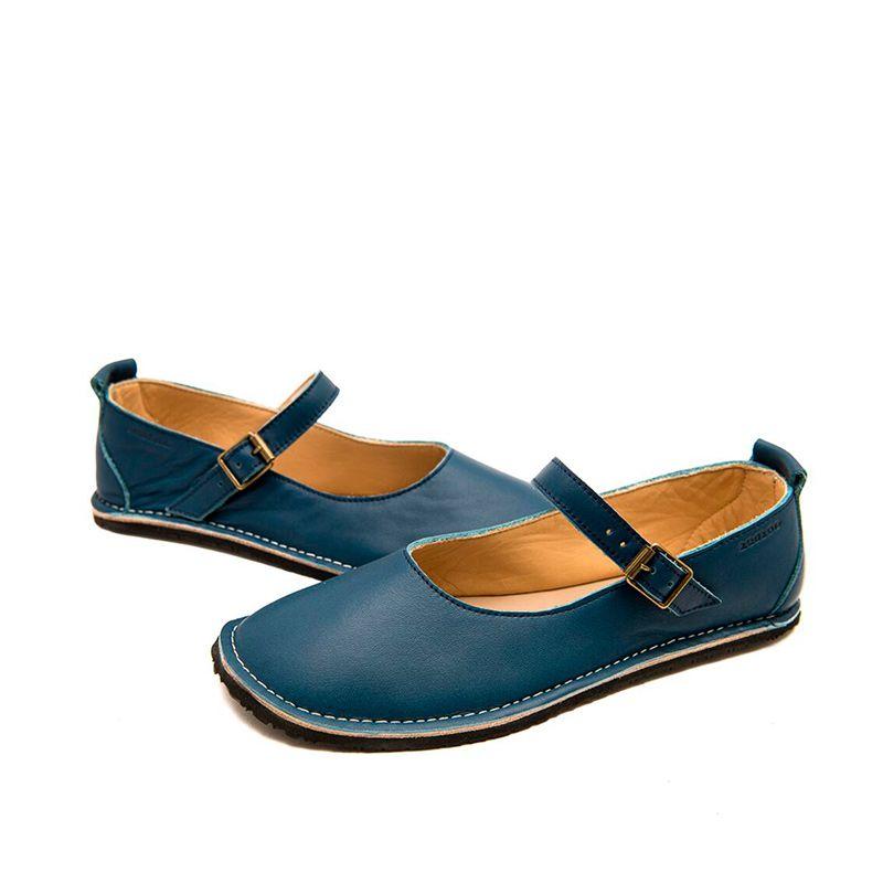 Zeazoo Ladies Mary Jane Navy Blue