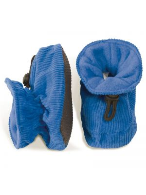 Melton Corduroy Booties Blue
