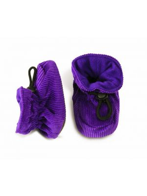 Melton Corduroy Booties Purple