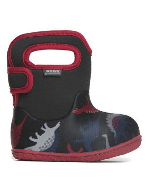 Baby Bogs Dino Black Red