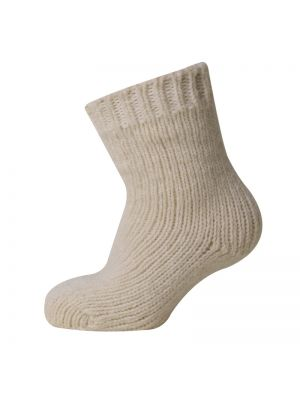 Melton Wool Socks Natural
